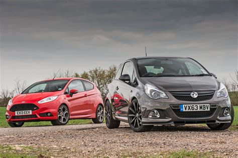 vauxhall ford ford fiesta st vs vauxhall corsa vxr clubsport review