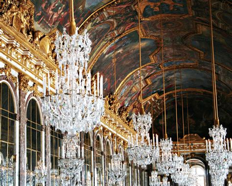versailles chandelier hall of mirrors photography versailles chandelier print