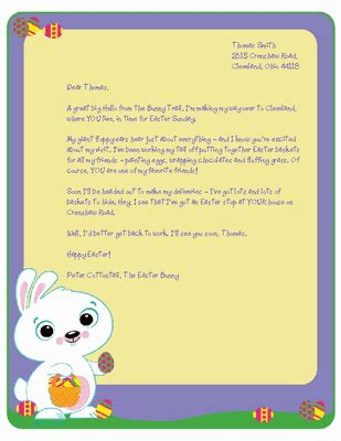 free printable letters from the easter bunny letter from the easter bunny stationery easter printable