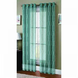 Sheer Linen Curtains Window Elements Boho Embroidered Faux Linen Sheer Wide 108 X 96 In Grommet Curtain Panel