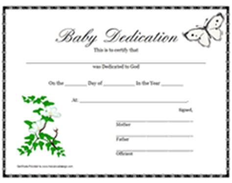 Printable Baby Dedication Certificates Templates