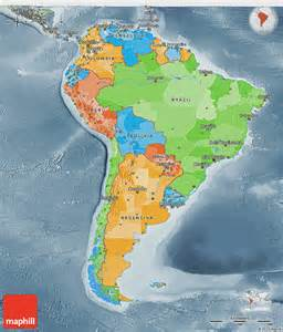 3d map of america political 3d map of south america semi desaturated