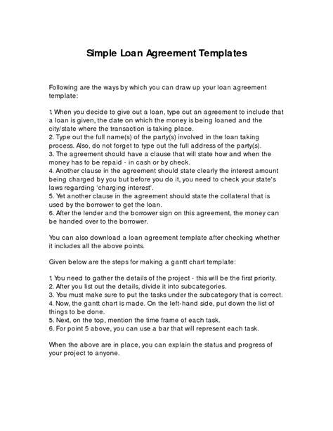 Simple Loan Agreement Template Written By Ryezalieve Helloalive Simple Loan Agreement Template