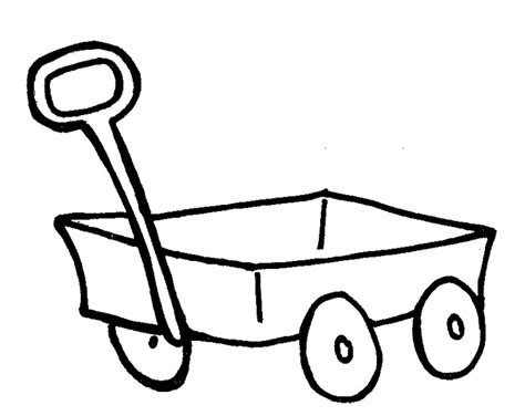 little red wagon coloring page sketch coloring page
