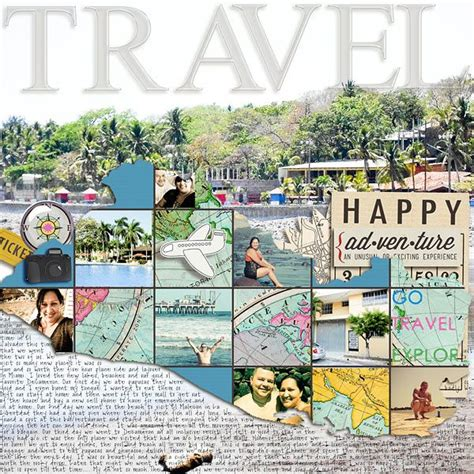 scrapbook layout travel travel scrapbook page scrap pages layouts 2 pinterest