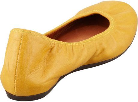 mustard colored flats lanvin classic leather ballerina flat mustard in yellow