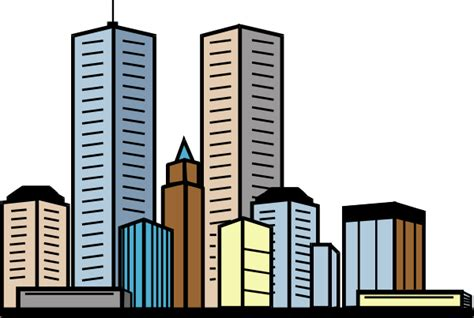 Skyscrapers Clipart cityline with skyscrapers clip at clker vector