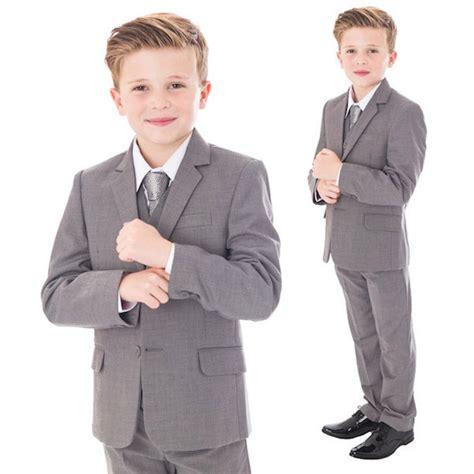 boys light gray suit light grey 5 jacket suit baby boys light grey