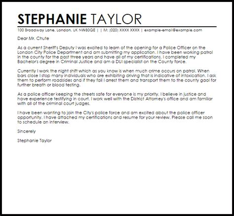 police sergeant cover letter best ideas of cover letter for police
