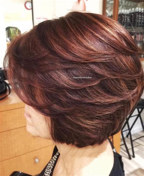 hairstyles feathered layers angled 25 best ideas about layered bob hairstyles on pinterest