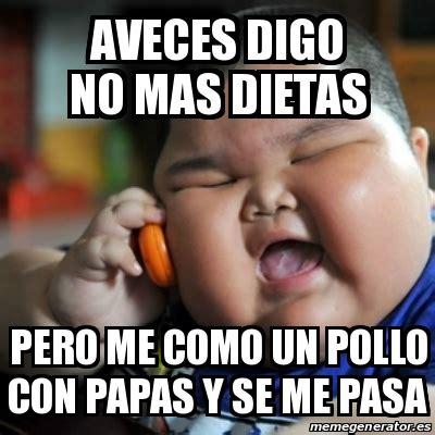no mas dieta 8499082742 meme fat chinese kid aveces digo no mas dietas pero me como un pollo con papas y se me pasa