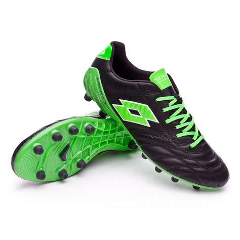 lotto football shoes lotto stadio 100 fg black mint fluor football boots