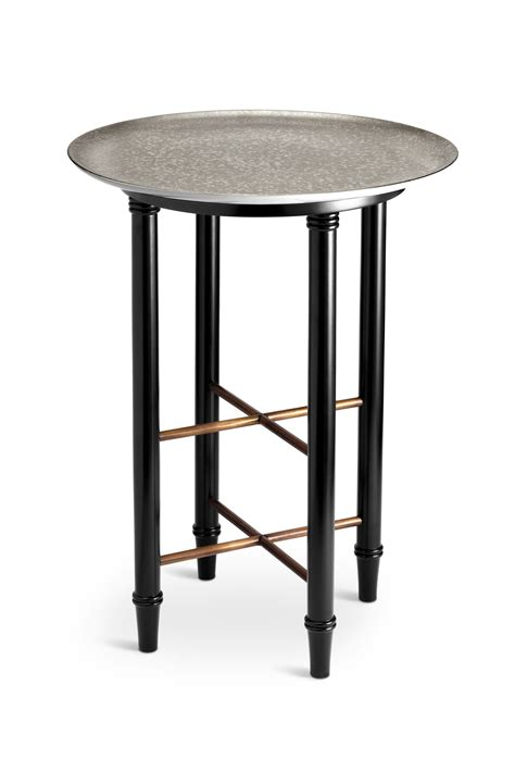 side table with l l objet alchimie platinum side table paris jewelers gifts