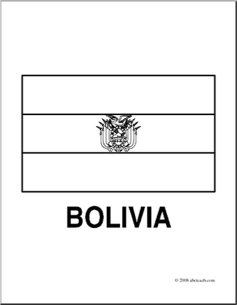 Clip Art Flags Bolivia Coloring Page Abcteach Flag Of Bolivia Coloring Page