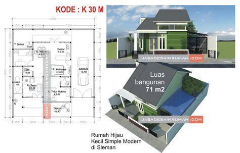 rumah hijau kecil simple modern  sleman  jasa desain rumah