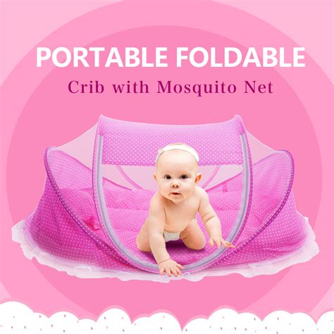 baby pillow for crib foldable new baby crib 0 3 years baby bed with pillow mat