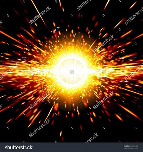 bid stock abstract science background big exploding space stock