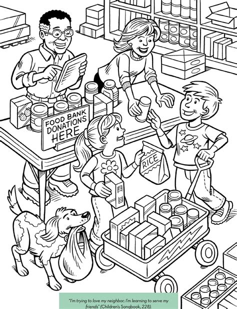 lds coloring pages kindness teaching lds children page 25 of 35 lessons and games