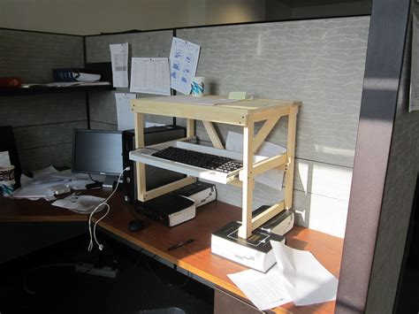 make stand up desk make your own standing desk homesfeed