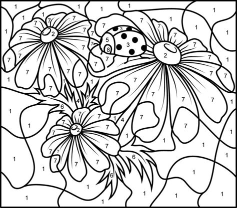free color by number for adults color by numbers best coloring pages for