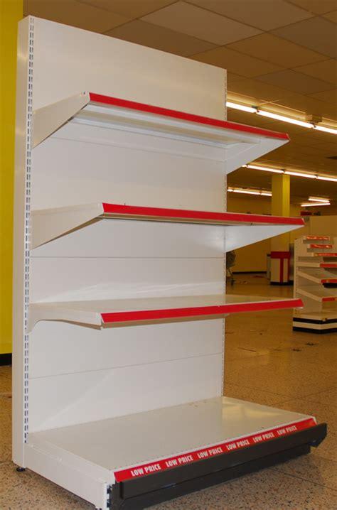 used retail supermarket food display shelving north