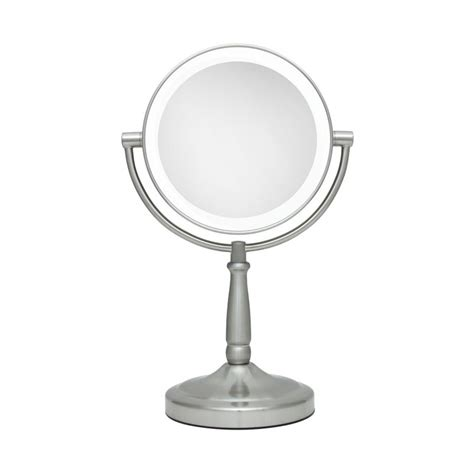 makeup mirror stand with lights big lighted stand mirror 1x and 5x led quot vanity mirror quot