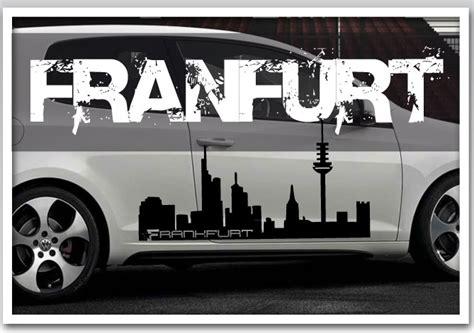 Auto Fenster Folie Frankfurt by Frankfurt Schriftzug Silhouette Skyline Autotattoo