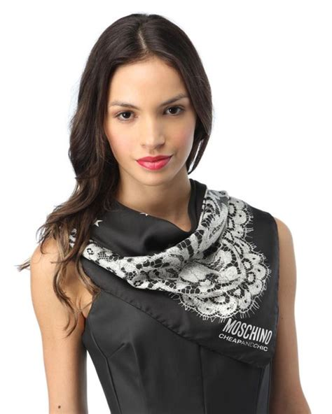 Get The Look Lius Cheap Chic by Scarf Moschino Cheap And Chic Cheap And Chic Silk Scarf