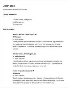 free basic resume templates basic resume template 51 free sles exles format