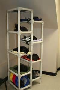Cat Bookcase Pvcパイプを使ったキャットタワーの自作方法 ネコモノ帳