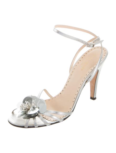 Genevieve Sandals By Kate Spade by Kate Spade New York Metallic Floral Sandals Shoes