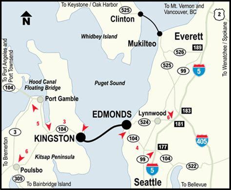 seattle map ferry kingston edmonds ferry fares