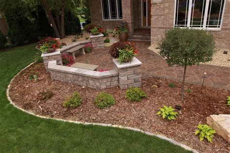 landscaping ideas mn yard walkway and stoop on prairie home custom landscape design spear s landscape inc