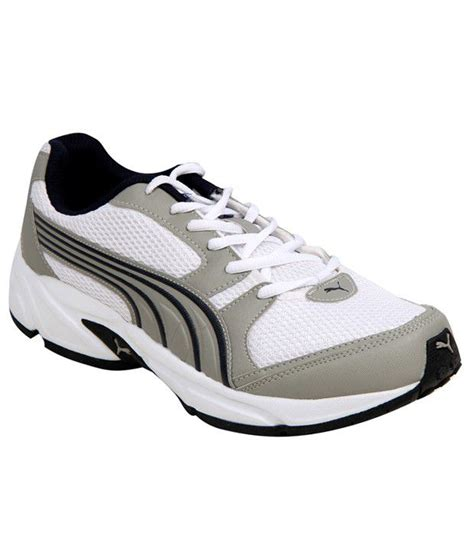 sturdy running shoes buy sturdy white grey running shoes for