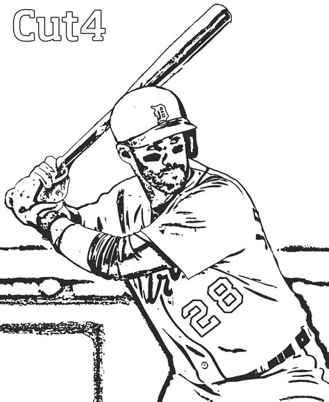 Detroit Tigers Coloring Pages Coloring Home Detroit Tigers Coloring Pages