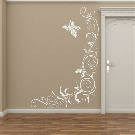 celtic vine corner giant wall decoration wall stickers store uk corner floral wall transfer removable vinyl decor