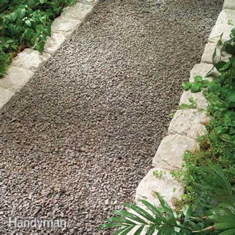 backyard pebble gravel planning a backyard path gravel paths family handyman