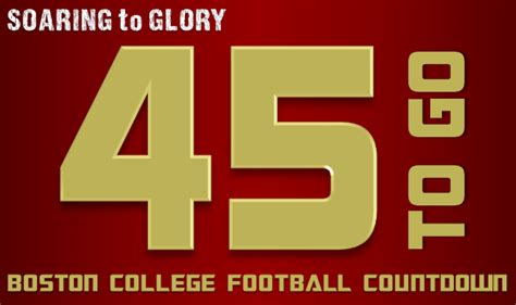 Going To For 45 Days Popbytes by Boston College Football Countdown 45 Days To Go Soaring