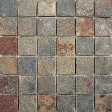 wall tiles zibo slate iron square large mosaic 305x305x10mm floor