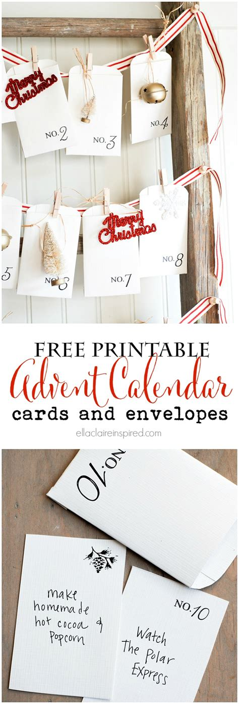 printable advent calendar cards free printable vintage christmas advent calendar ella claire