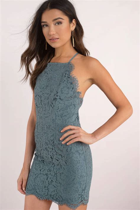 Id 217 Mix Color Dress Black cross your teal lace bodycon dress s 123 tobi sg