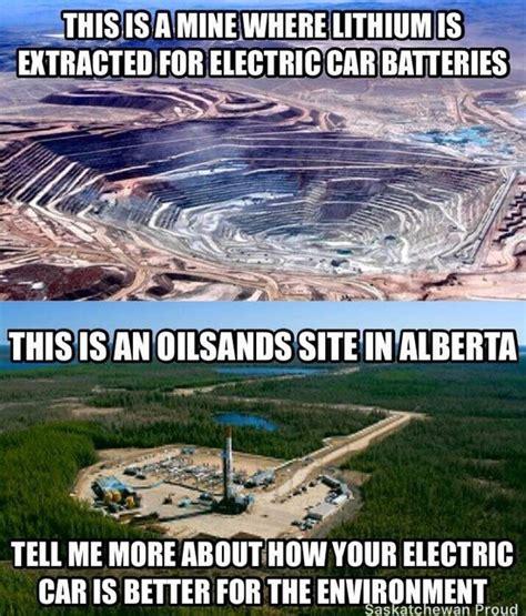 Electric Car Meme Lithium Mining Vs Sands Meme A Thorough Response