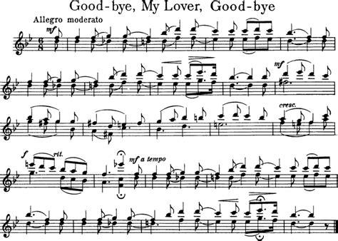 tutorial piano goodbye my lover goodbye my lover goodbye free violin sheet music