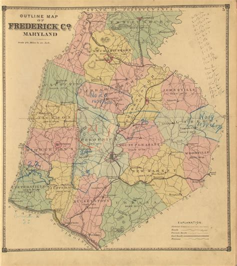 maryland map frederick county frederick roots