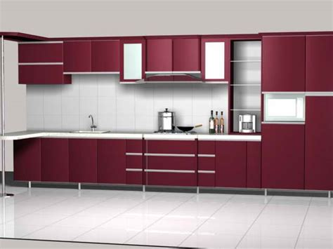 kitchen unit design maroon color kitchen unit design 3d model 3dsmax files
