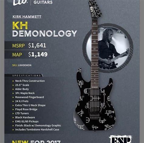 kirk hammett ltd ltd kirk hammett kh demonology 2017 the esp guitar company