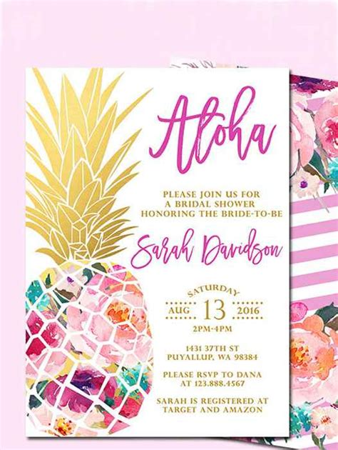 card template hawaian birthday jazlyn printable bridal shower invitations you can diy
