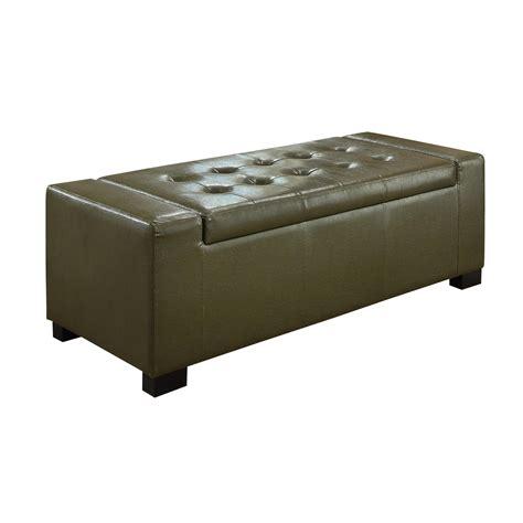 simpli home laredo rectangular storage ottoman large brown amazon com simpli home laredo rectangular storage ottoman