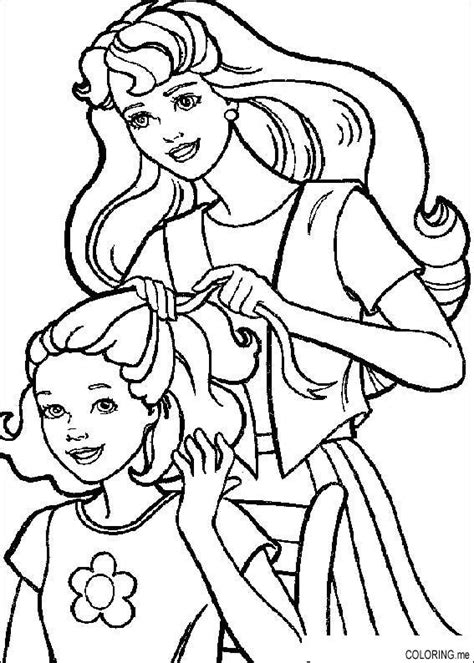 coloring book hair coloring page hairdressing coloring me