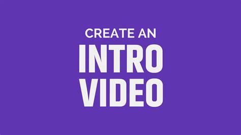 video intro maker  design experience required